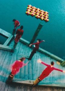 NZ, Lagoon poles color